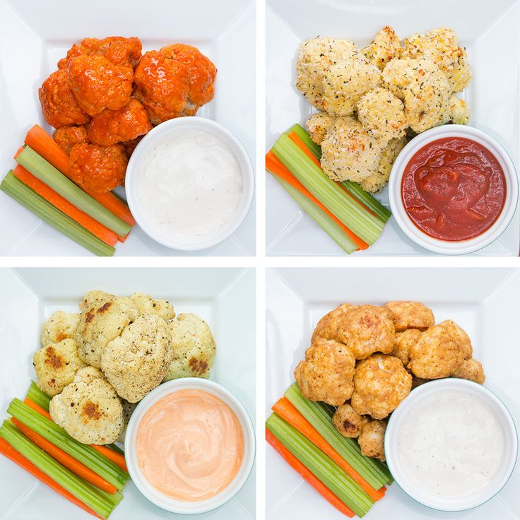 Baked Cauliflower Bites 4 Ways