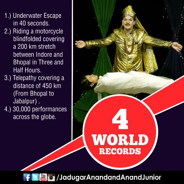 Jadugar Anand World Records!   #JadugarAnand #Magician #WorldRecord #Magic #Records #India