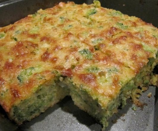Broccoli Cornbread 1 box Jiffy Corn-muffin Mix 3 beaten eggs 1 stick melted butter 1 8oz package frozen broccoli - thawed and chopped 1 cup chopped onion 6 oz cottage cheese Pinch jalapeño pepper Mix all ingredients in cake pan and bake for 40 minutes at 350 degrees