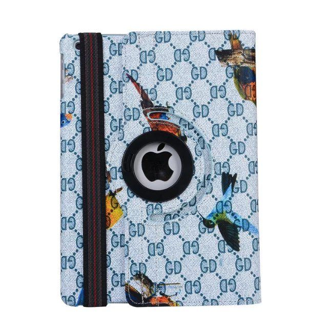 """Magnet Cool Case For Apple iPad Air 2 Air2 9.7"""" Tablet Case Bird Printed 360 Rotating Leather Case Flip Cover For ipad 6"""