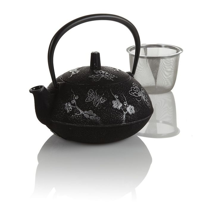 Teavana black butterfly cast iron teapot want it - Teavana tea pots ...