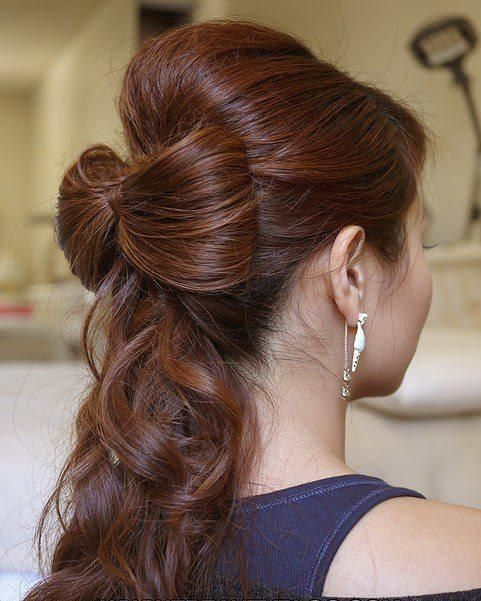:): Hairbows, Hair Ideas, Wedding Hair, Hair Styles, Bow Hairstyles, Makeup, Hair Bows, Beauty