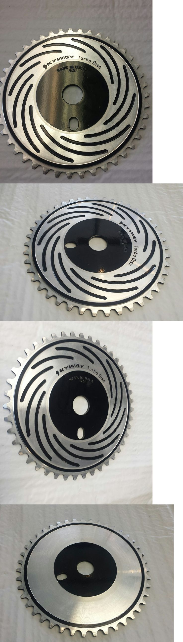 Vintage Bicycle Parts 56197: (Nos) Vintage Skyway Turbo Disc 43T Cnc Bmx Sprocket - Black/Silver -> BUY IT NOW ONLY: $79.99 on eBay!