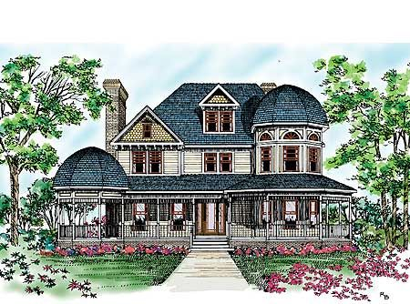Grand Country Kitchen - 81204W | 2nd Floor Master Suite, MBR Sitting Area, PDF, Shingle, Victorian, Wrap Around Porch | Architectural Designs