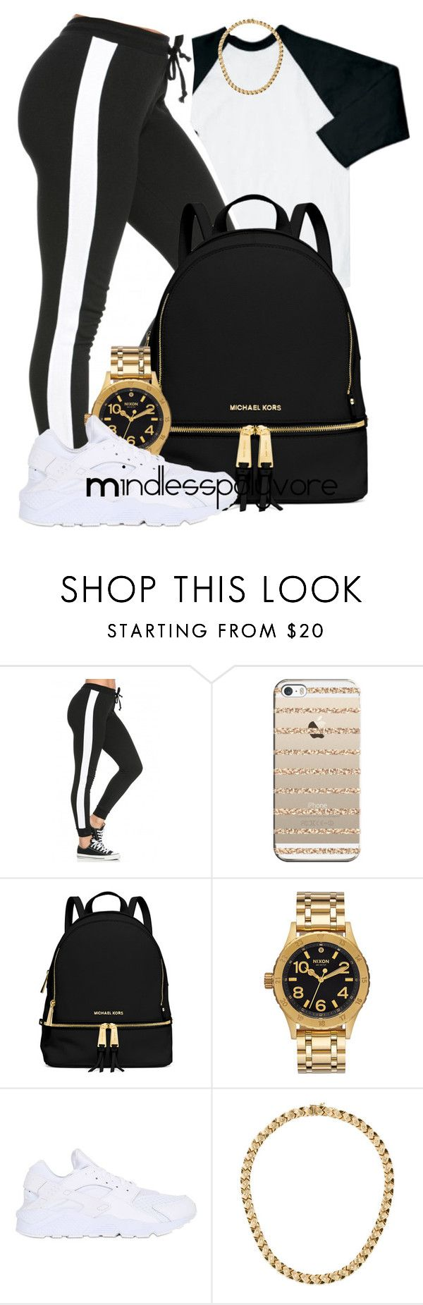 """I hoping ya'll can come to us once in a while"" by mindlesspolyvore ❤ liked on Polyvore featuring Casetify, MICHAEL Michael Kors, Nixon, NIKE, women's clothing, women's fashion, women, female, woman and misses"