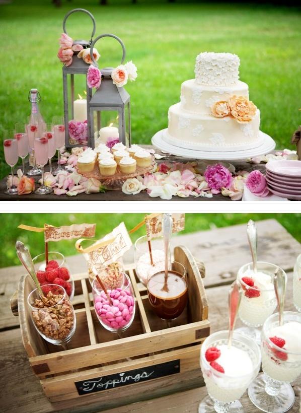 Mooie bruidstaart en kleuren