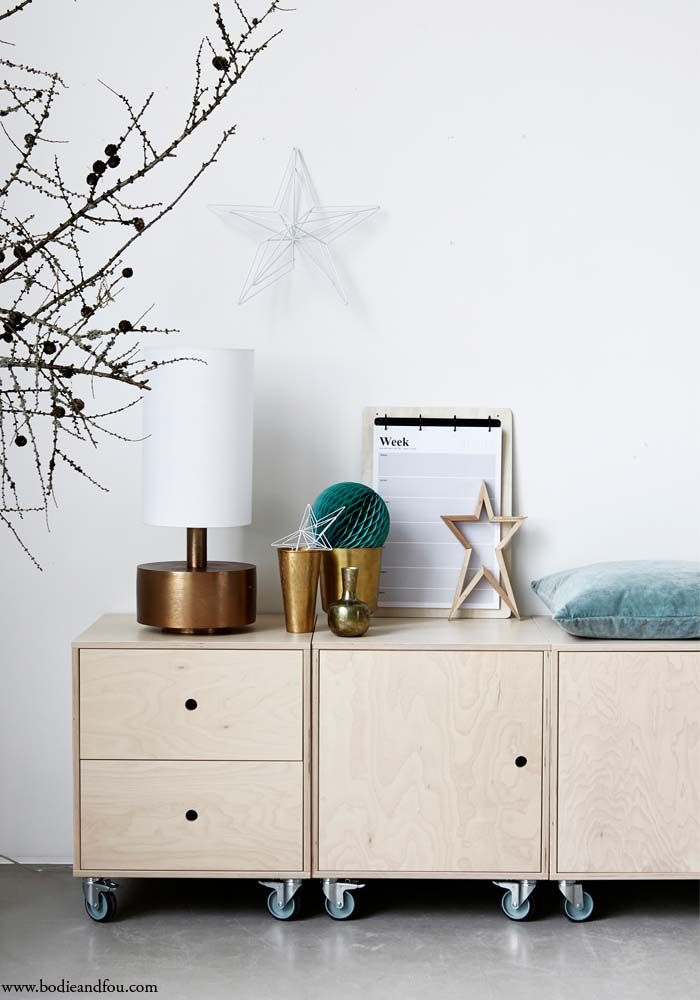 Storage unit with drawers // House Doctor via Bodie and Fou