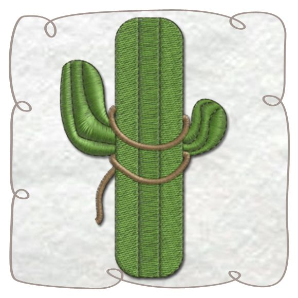 Cactus Machine Embroidery Design Pattern-INSTANT DOWNLOAD