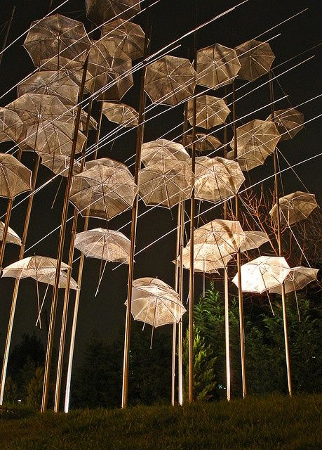Floating electric umbrellas
