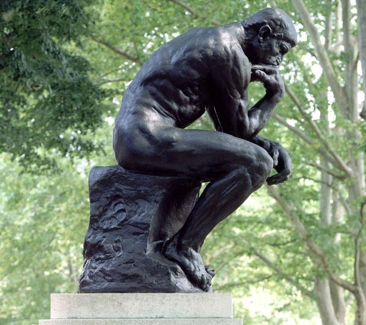 Invalides Quarter, Rodin Museum, 79 Rue de Varenne, Paris VII. The Thinker, by Rodin.