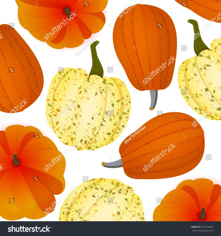 Autumn Halloween Pumpkins Pattern