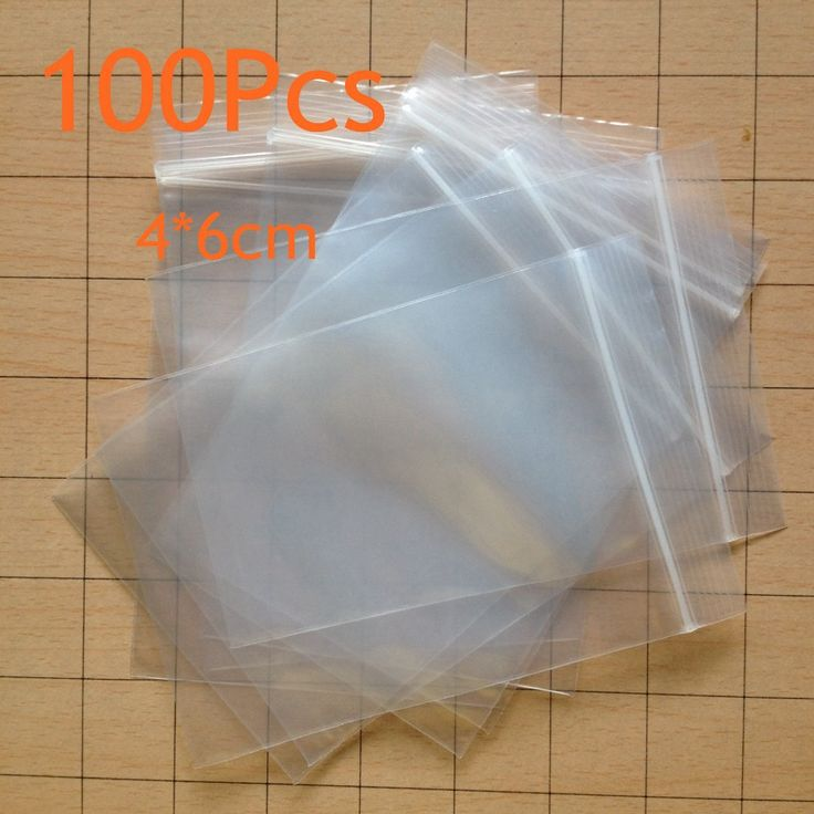 100 stücke Plastikbeutel Baggy Squeeze Auto Seal Wiederverschließbaren Reißverschlusstasche Wiederverschließbaren Schloss Für Verschiedene Artikel Lagerung Zu Hause