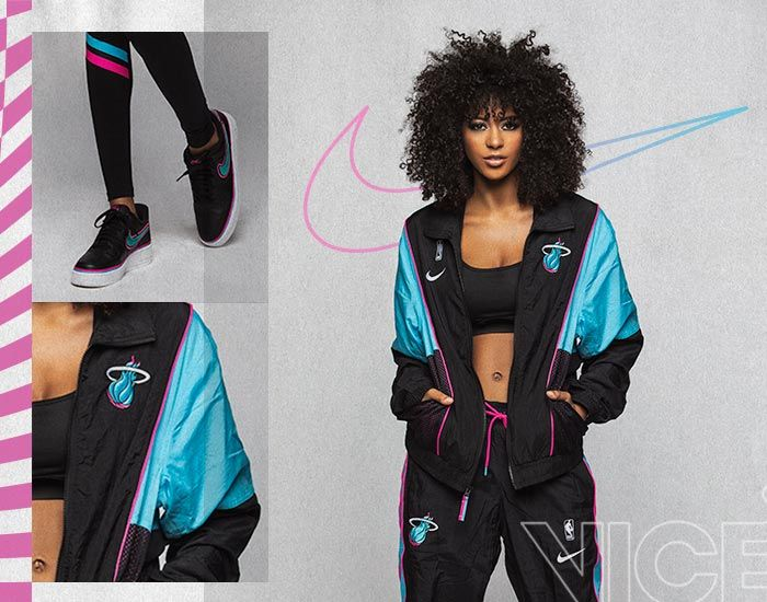 Nike Miami HEAT Vice Black City Edition Courtside Track