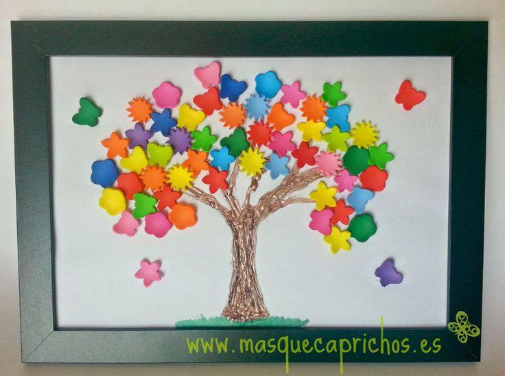 Lámina árbol en 3d  Reto Naturaleza - Una explosión de color