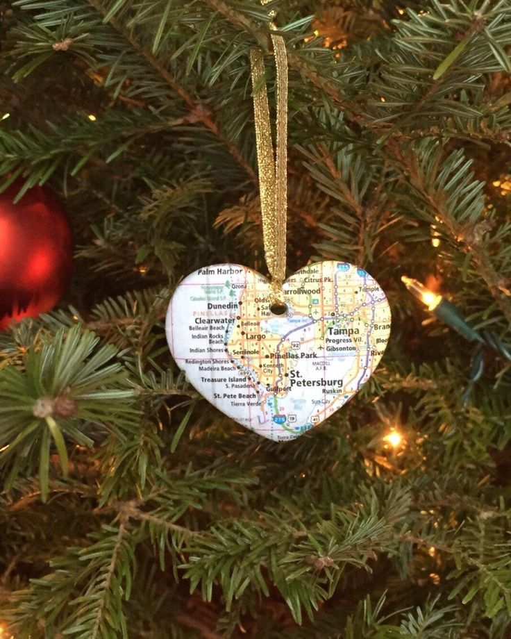 Custom Map Ornament by HappilyEverMoore on Etsy https://www.etsy.com/listing/215969306/custom-map-ornament