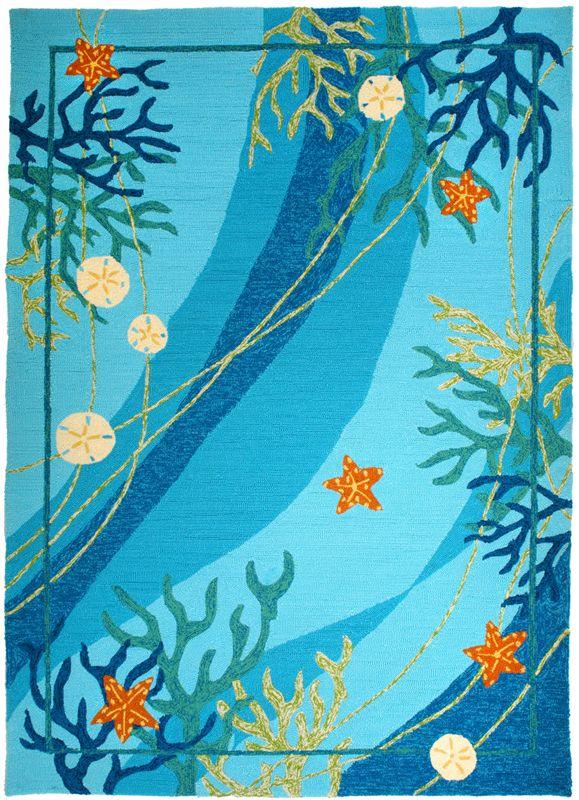 "Great rug for an ""under the sea"" nursery!"