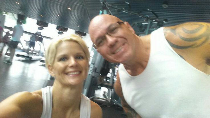 Even on our honeymoon cruise we gotta hit the gym