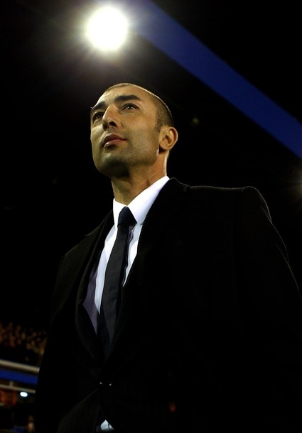 Roberto Di Matteo in his first match as manager of Chelsea FC