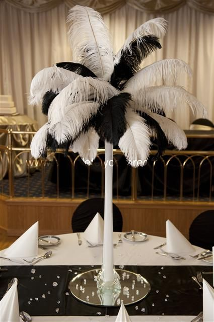 Best images about feather centrepieces on pinterest