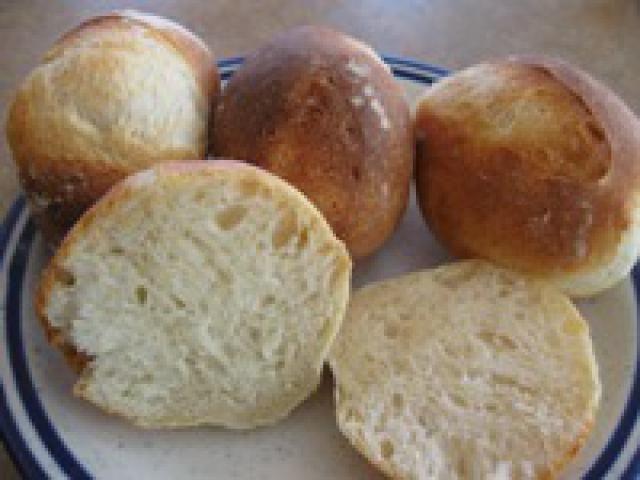 German Hard Rolls - Brötchen Recipe - Homemade Roll Recipe: German White Breakfast Rolls - Schrippen - Wecken - Feierabendbroetchen