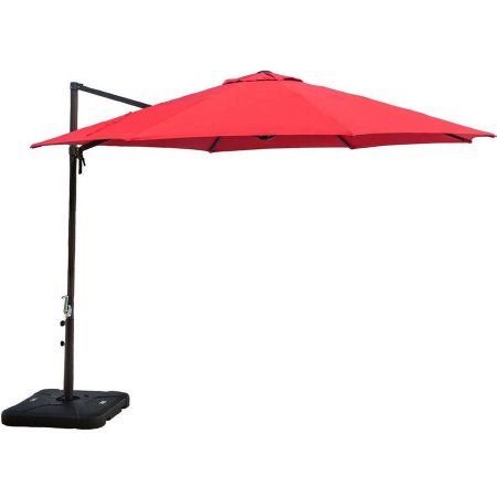 Hanover Outdoor Furniture Cantilever Patio Umbrella, Red