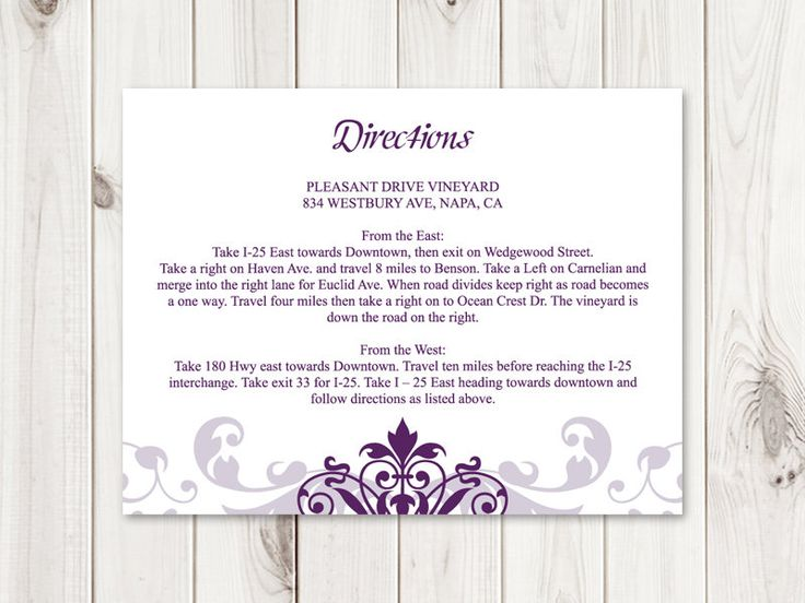 33 best wedding invitation templates elegant ironwork images on diy directions card printable wedding insert template elegant ironwork plum purple color editable text ms word instant download stopboris Images