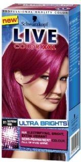 Live color XXL Ultra Brights 91 Raspberry Rebel geeft een intensieve en heldere verkleuring op reeds geblondeerd haar en een een meer subtielere verkleuring op natuurlijk of geverfd haar.