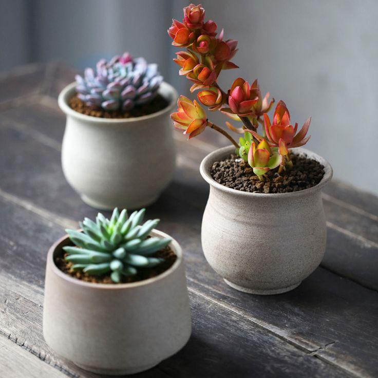 Buy desktop flowerpots mini ceramic