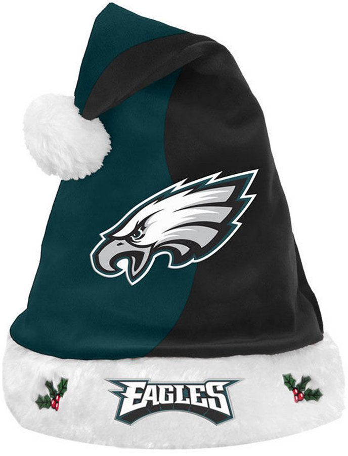 Forever Collectibles Philadelphia Eagles Knit Sweater Santa Hat