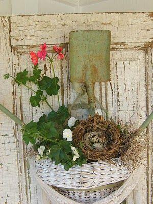 Spring door decor love