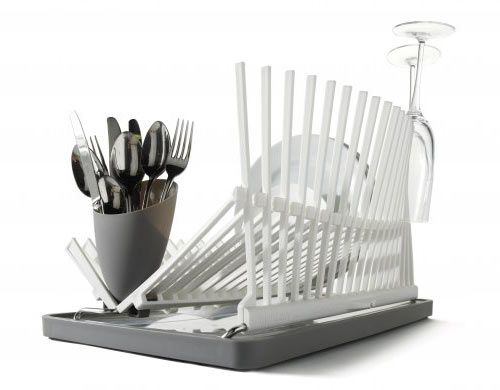 We round up some cool modern dish racks we're considering for the kitchen.