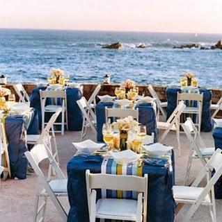 Great beach reception nautical colors