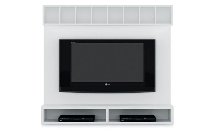 Modulo para televisión Trazos de Kibuc con panel, modulo bajo con 2 espacios abiertos para los diferentes reproductores, y un modulo alto para poder almacenar las películas.   Acabado Cervino. Medida L195 cm