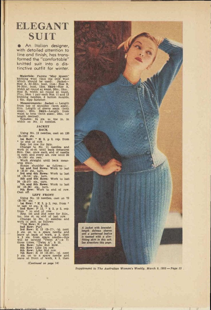 Vintage Knitting Pattern Library : 1000+ images about vintage knitting/crochet patterns on ...