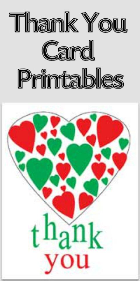 free thank you card printables