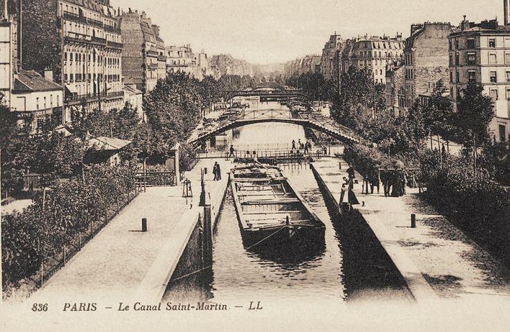 #photo Le canal St-Martin vers 1900 #Paris11 #PEAV @Menilmuche @ParisHistorique @Tanya Lotts Titam @aubordducanal @Merle_teigneux