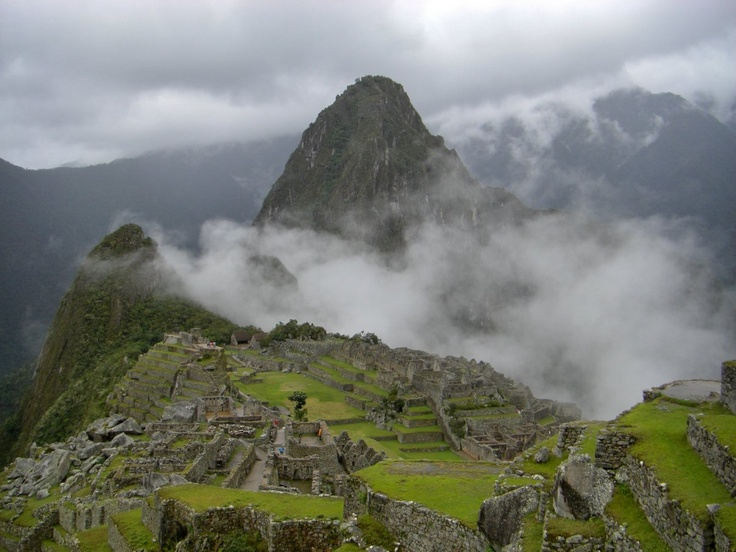 Early Morning mist at Machu Picchu, Peru