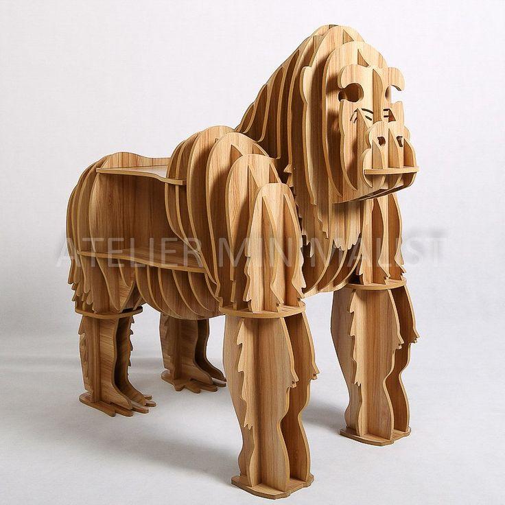 Wooden Gorilla Shelf