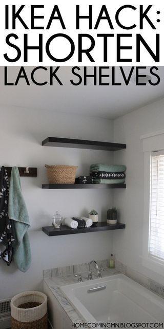 Ikea Hack: Shortening Lack Shelves | Home Coming | Bloglovin'