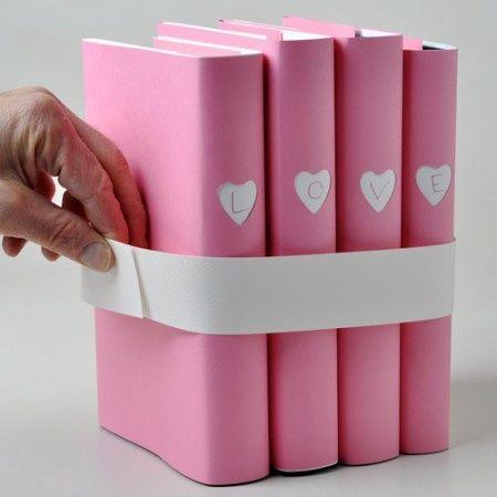 Decorar libros para San Valentin