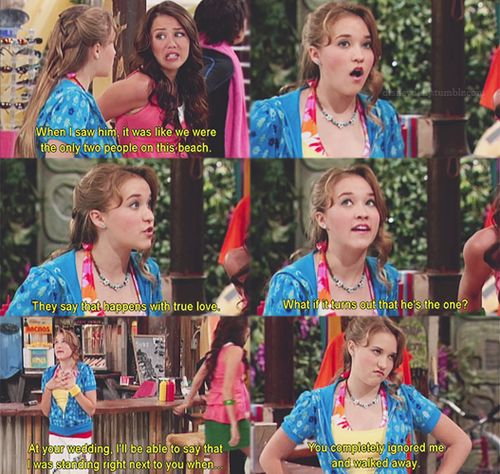Hannah and Lilly :) Hannah Montana quote