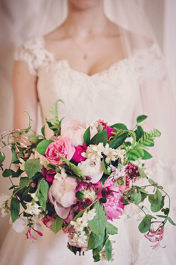 Romantic Vintage Inspired Pink Wedding Bouquet by Foxgloves and Roses   Styled Shoot by Petra Opperman