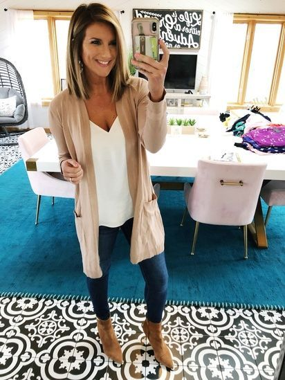 What to wear with a long cardigan // The perfect Spring outfit // Cute and Femin…