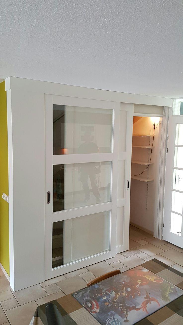 Schuifdeur voor trapkast