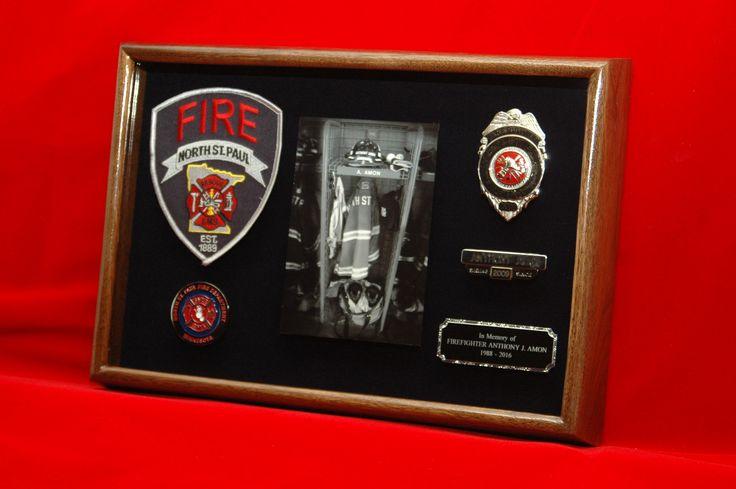 Firefighter career shadow box made by ShadowBoxUSA. http://www.shadowboxusa.com