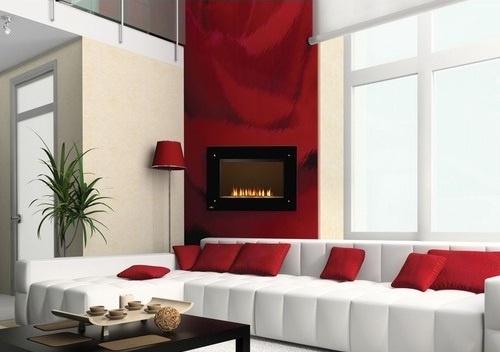 20 salas en color rojo y blanco colors for Sala de estar rojo y blanco