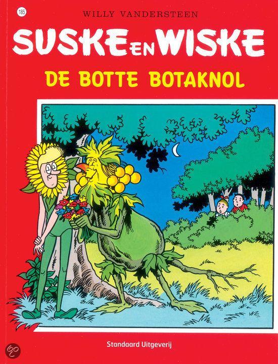 Suske en Wiske. De Botte Botaknol (185). Lambik experimenteert met planten kweken en na een hevig onweer is Botaknol het resultaat: een mensachtig knolgewas dat kan denken en praten. Botaknol kiest het hazenpad en wordt opgemerkt door Wiedkil, een bedrijf dat onkruidverdelgers maakt. Zij eisen dat Botaknol overal onkruidbommen gooit zodat hun producten beter verkopen. Kunnen Suske en Wiske Wiedkil onschadelijk maken?