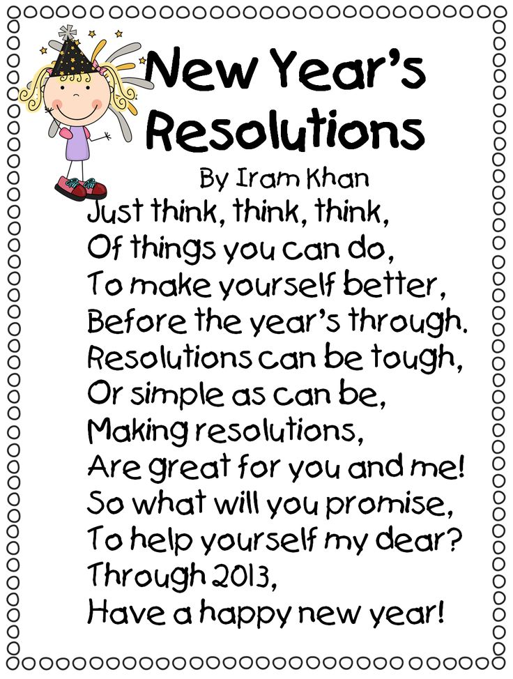 best new years resolution kids ideas goal  happy new year 2 cute new year s resolution poems
