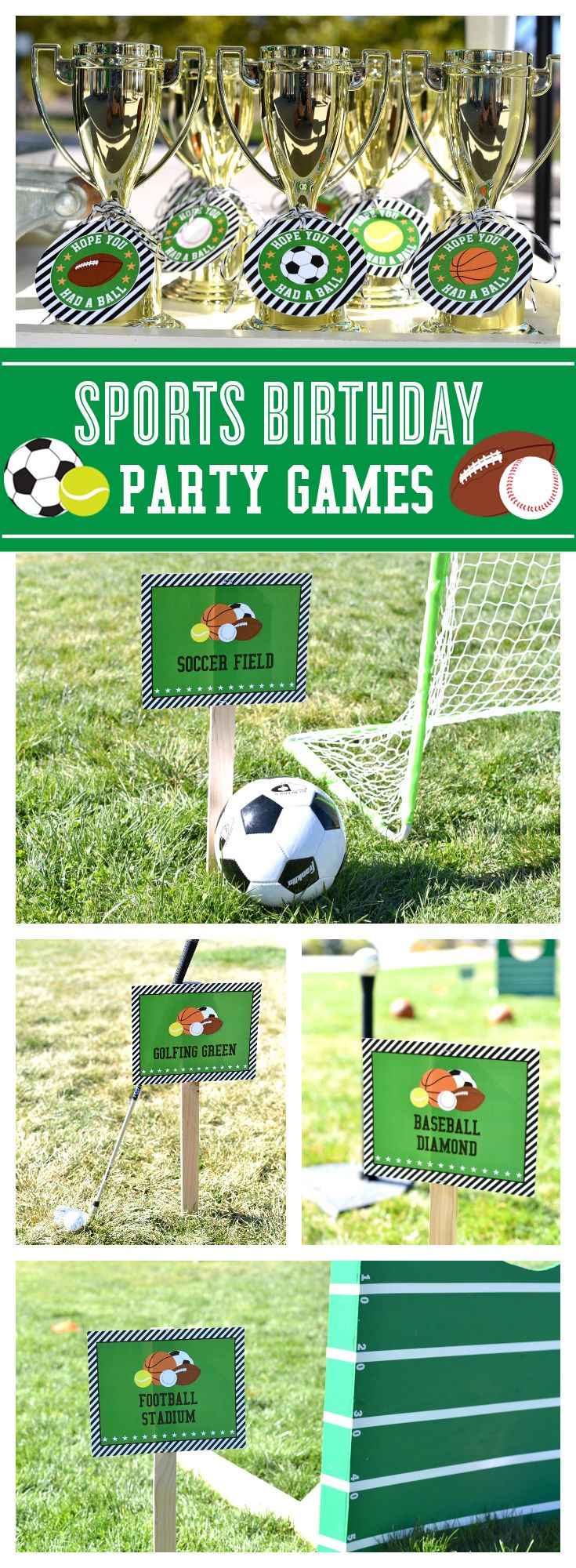 Get your game on! Sports birthday party games.