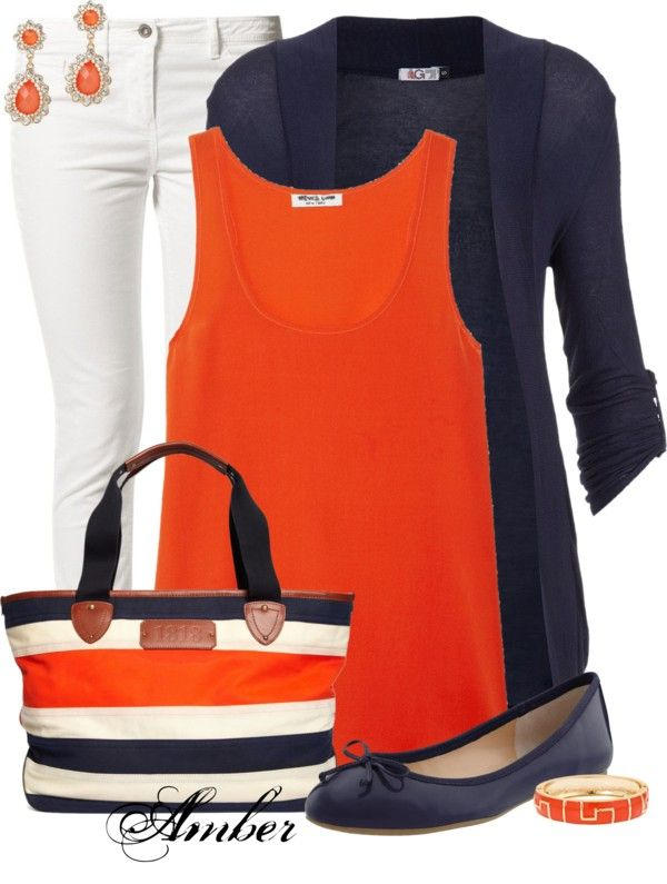 """Ashley"" by stay-at-home-mom on Polyvore. White jeans are a big no for me, but I love a cardigan."